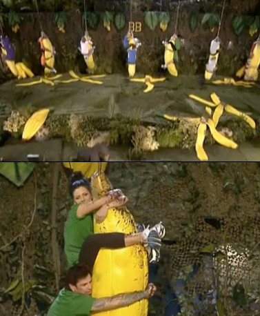 Big Brother | Season 13's first Head of Household competition was called, ''Going Bananas,'' in which the houseguests had to hang on to a giant dangling banana while…