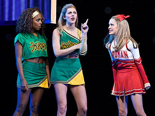 Bring It On: The Musical : (Left to right) Adrienne Warren, Taylor Louderman, and Elle McLemore
