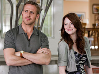 QUALITY MUSCLE Ryan Gosling and Emma Stone in Crazy, Stupid, Love
