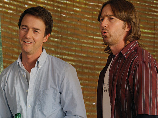 Edward Norton | One twin is an Ivy League philosophy professor, the other grows pot back home in Oklahoma in this eccentric little gem. And Norton, an actor…