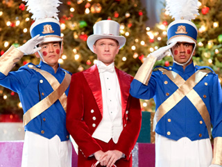 HOLIDAY HILARITY John Cho, Neil Patrick Harris, and Kal Penn in A Very Harold & Kumar 3D Christmas