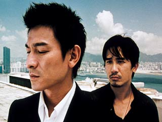 HONG KONG THRILLER Andy Lau and Tony Leung in Wai Keung Lau and Siu Fai Mak's Infernal Affairs