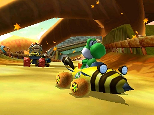 Mario and his Mushroom Kingdom pals speed onto the 3DS for a fresh take on the addictive kart racing formula; in addition to the series'…