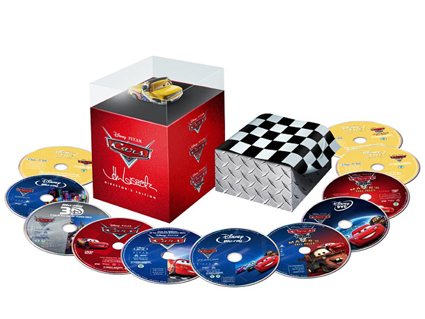 Pixar, Cars, ... | Every kid loves Lightning McQueen, and every kid (big and little) will love this 11-disc Blu-ray/DVD set, complete with a collectible figure of pit-crew chief…