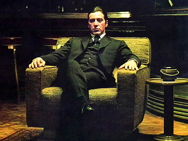 Al Pacino, The Godfather: Part II | Both a sequel and a prequel, with a parallel story line depicting Vito Corleone's rise to power, the second Godfather film from Francis Ford Coppola…