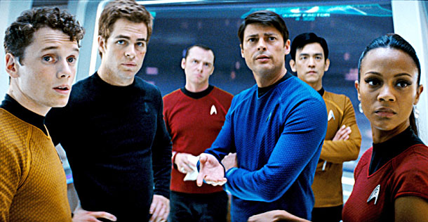 John Cho, Chris Pine, ... | How dare J.J. Abrams mess with sacred Star Trek gospel, like the birth of Capt. James Tiberius Kirk! On the contrary, such bold strokes proved…