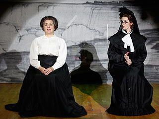 QUEEN OF THE MIST Mary Testa (left) and Julia Murney
