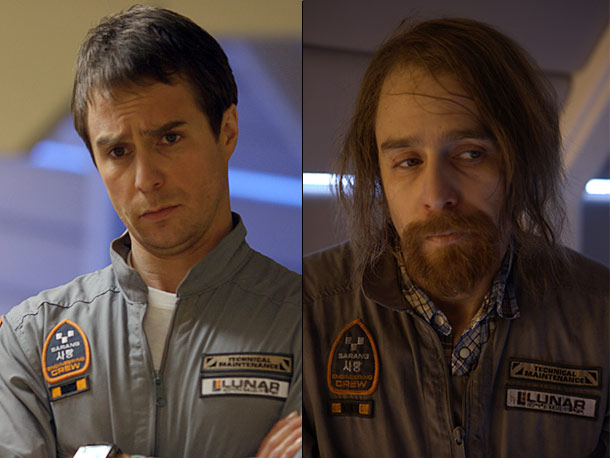 Sam Rockwell, Moon | As befits this cool, broody sci-fi story set on the dark side of the moon, Sam Rockwell plays a corporate astronaut and also, well, something…