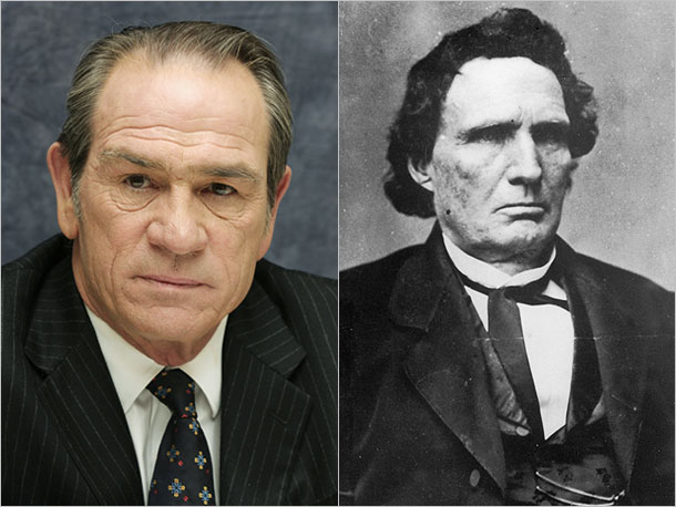 Tommy Lee Jones as Thaddeus Stevens, a staunch abolitionist and powerful Republican congressman from Pennsylvania