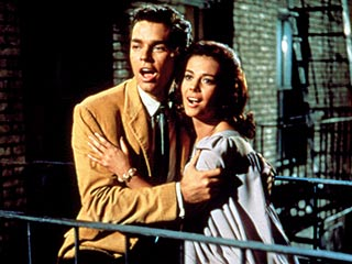 GANG UP Richard Beymer and Natalie Wood in West Side Story