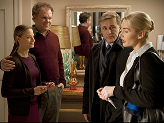 Carnage | PARENTAL ADVISORY Jodie Foster, John C. Reilly, Christoph Waltz, and Kate Winslet in Carnage