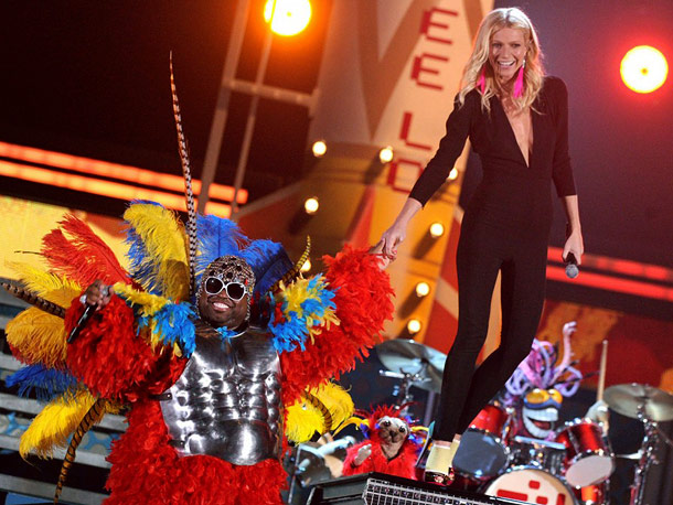 Cee Lo, Gwyneth Paltrow | Who would've thought that a rainbow-feathered turkey (a.k.a. Cee Lo Green) and ?a catsuited Gwyneth Paltrow would make for one of the most inspired musical…