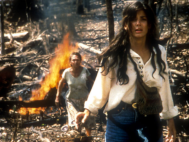 Sandra Bullock, Fire on the Amazon   Costarring Craig Sheffer Tagline: ''Fight fire with fire'' A year before Speed turned her into America's Sweetheart, Bullock starred in this jungle adventure she'd no…