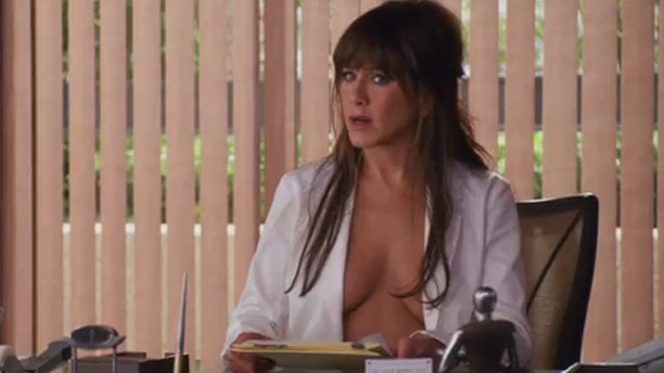 Jennifer Aniston, Horrible Bosses | The Naked Truth: It's always fun to watch a ''good'' girl play bad, and Aniston nails it with her insanely inappropriate boss lady naked under…