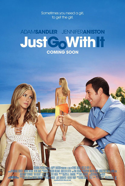 The Pitch: America's favorite funnyman teams up with hot blondes of all ages. And they're on a beach, so bikinis! The Actual Message: Jennifer Aniston…