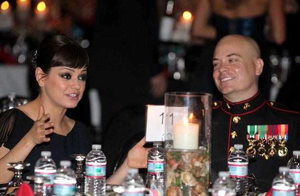 Mila Kunis | Awwww... When Justin Timberlake persuaded his Friends With Benefits costar Mila Kunis to accept a YouTube video invitation from Sgt. Scott Moore to a Marine…