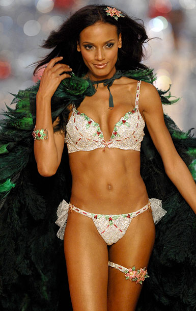 Selita Ebanks, The Victoria's Secret Fashion Show | It is possible for a woman modeling a bra and underwear to be wearing too much.