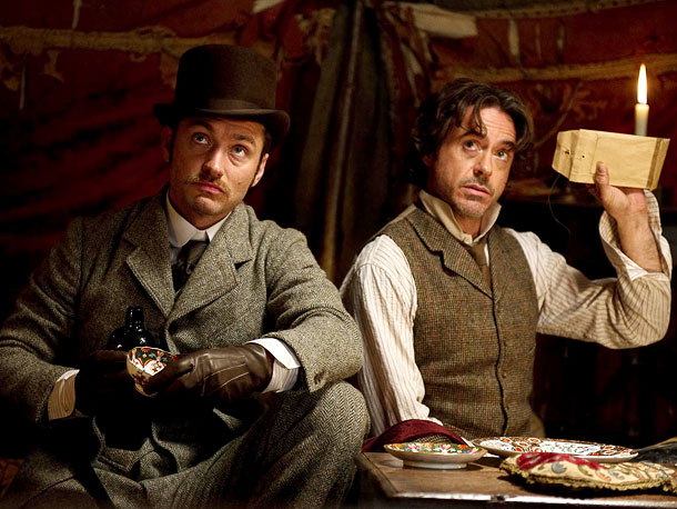 For the sequel to 2009's Sherlock Holmes , director Guy Ritchie wanted to pit Arthur Conan Doyle's famed detective (Robert Downey Jr., pictured here with…