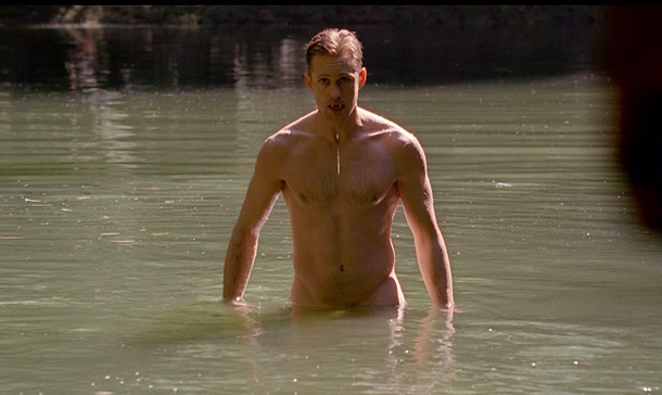 True Blood, Alexander Skarsgard | The Naked Truth: There's a lot of skin on True Blood , but let's face it, rewinding even a gorgeously filmed moonlit sex scene can…