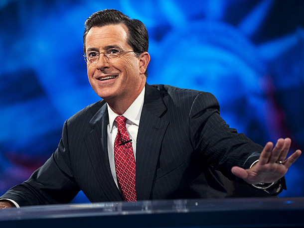 Stephen Colbert, The Colbert Report   Don't let its position at No. 10 mislead you. Report is funny, sometimes unexpectedly moving — the interview with Stephen Sondheim was a magnificent example…