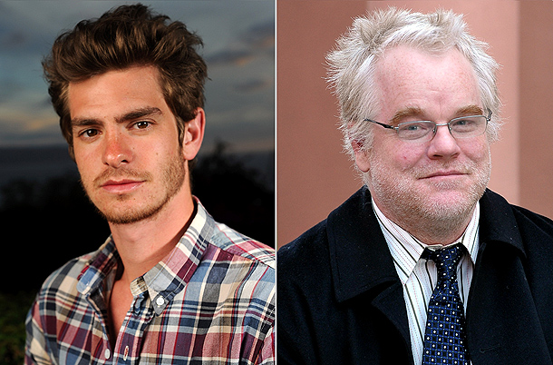 Andrew Garfield, Philip Seymour Hoffman | We're Excited About: Young man-of-the-moment Andrew Garfield makes his Broadway debut alongside Philip Seymour Hoffman in Arthur Miller's Pulitzer Prize-winning drama — which has Tony…