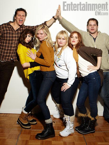 Hayes MacArthur, Lizzy Caplan, Kirsten Dunst, Rebel Wilson, Isla Fisher, and Kyle Bornheimer, Bachelorette