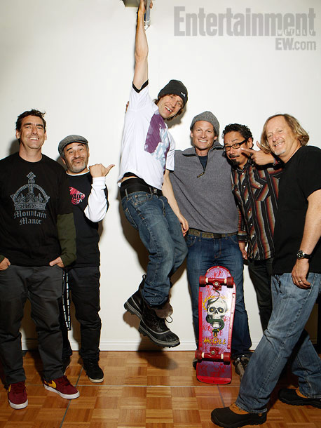 Lance Mountain, Steve Caballero, Rodney Mullen, Mike McGill, Tommy Guerrero, and Stacy Peralta, Bones Brigade