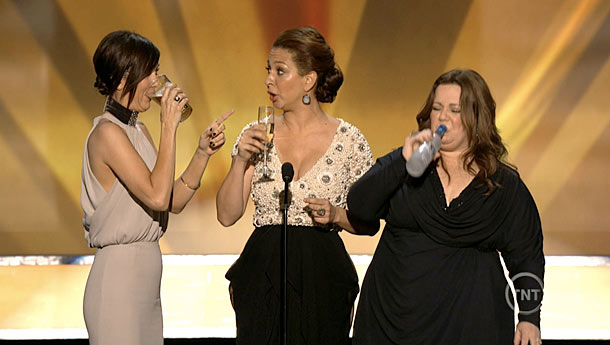 Kristen Wiig, Maya Rudolph, ... | Introducing Bridesmaids , a nominee for Best Cast, Maya Rudolph revealed her favorite game: ''You have to take a drink every time — and I…