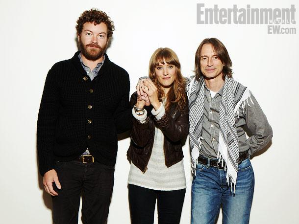Danny Masterson, Alexia Rasmussen, and Robert Carlyle, California Solo