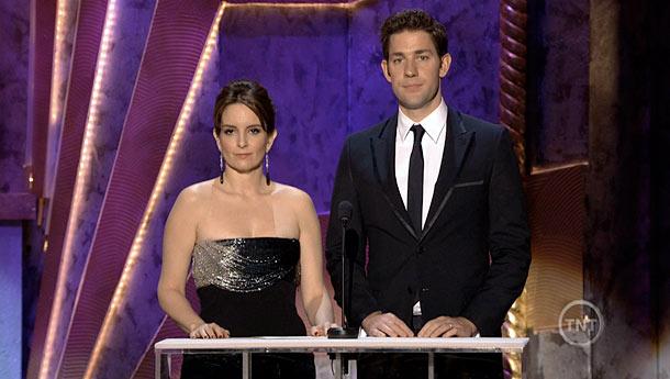 Tina Fey, John Krasinski, ... | Presenting the Best Actor in a TV Drama award alongside John Krasinski, Tina Fey quoted Kathie Lee Gifford: ''If drag queens love you, you'll have…