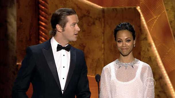 Zoe Saldana, Armie Hammer, ... | Though they won for Best Actress and Best Actor in a Miniseries, Kate Winslet ( Mildred Pierce ) and Paul Giamatti ( Too Big To…