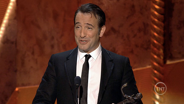 Jean Dujardin, Screen Actors Guild Awards 2012 | Jean Dujardin, the French star of The Artist , won for Best Actor, and his speech needed no translation: ''MYGODMYGODMYGODMYGODMYGODMYGODMYGOD.''