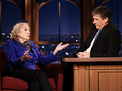 Betty White | Craig Ferguson (Nov. 11, 2008) White pretended to be a McCain speechwriter and ended up calling Sarah Palin a ''crazy bitch.'' Watch a clip