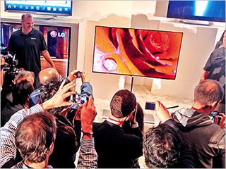 LG 55EM9600 OLED 3 D TV