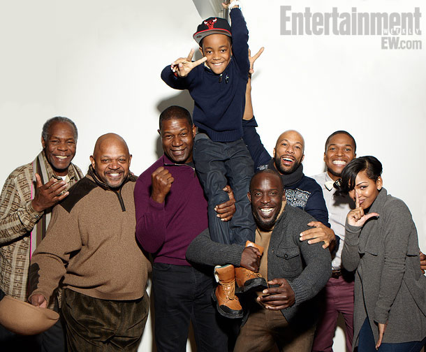 Danny Glover, Charles S. Dutton, Dennis Haysbert, Michael Rainey Jr., Michael Kenneth Williams, Common, Sheldon Candis (director), and Meagan Good, LUV