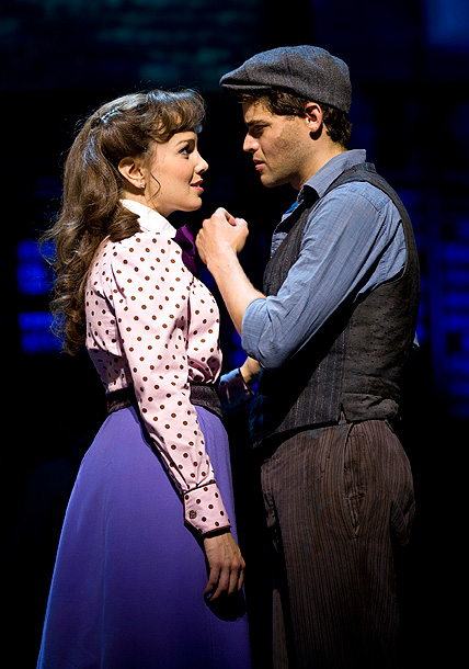 Newsies: The Musical, Jeremy Jordan | We're Excited About: Newsies high-flying paperboys were a hit during the show's New Jersey run, revealing something no one expected: Book writer Harvey Fierstein's redux…