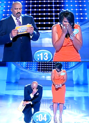 Family Feud | The survey wouldn't have said ''Penis,'' but one woman did when told, ''We asked 100 men, name a part of your body that's bigger than…