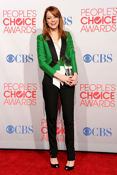 Emma Stone, People's Choice Awards | She was one of last year's best dressed stars, and if this ensemble is any indication, she's likely to top the list again in 2012.…