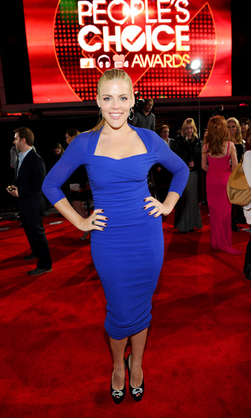 Busy Philipps, People's Choice Awards | Unlike most other attendees, Busy kept it simple — and got it right — in a perfectly fitted, bold blue dress. A-