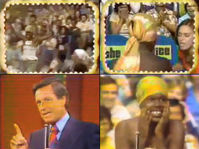 The Price Is Right | When golden-voiced announcer Johnny Olson uttered his famous catchphrase ''Come on down!'' he meant the person, not her clothing. Unfortunately, this contestant's tube top didn't…