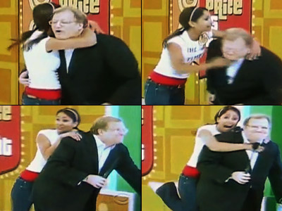 The Price Is Right | Kisses and hugs were all pretty common for Drew Carey as the host of The Price is Right , but a knee to the groin…