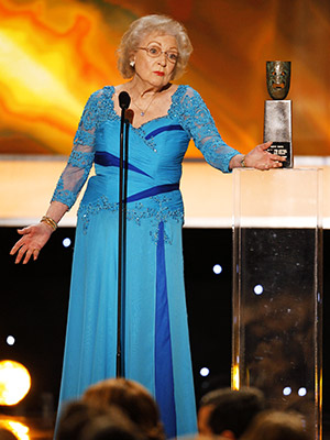 Betty White | SAG Awards 2010 She was genuinely touched by her Lifetime Achievement award.