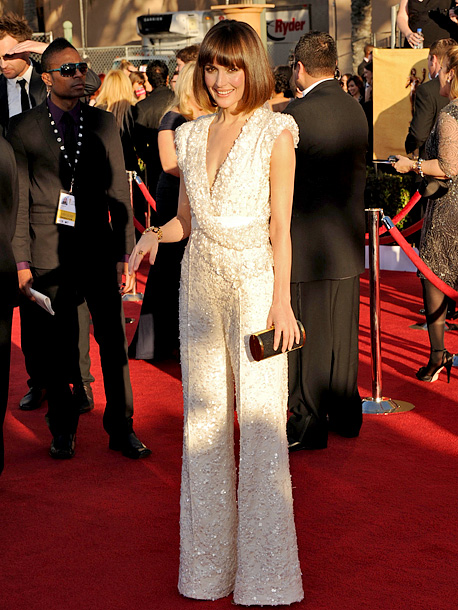 Rose Byrne, Screen Actors Guild Awards 2012 | While most of the ladies on the red carpet donned sweeping gowns, Rose opted for something completely different in a dazzling jumpsuit by Elie Saab.…