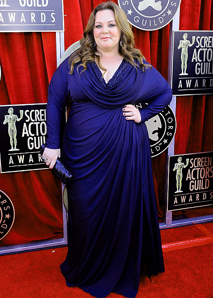 Melissa McCarthy, Screen Actors Guild Awards 2012 | The comedy queen played it straight and simple in an elegantly draped Badgley Mischka Couture gown with beautiful beading and minimal accessories (something her Bridesmaids…