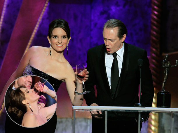 Tina Fey, Steve Buscemi, ... | After winning for Best Actor in a TV Drama and for Best Cast in a TV Drama, Boardwalk Empire 's Steve Buscemi uttered those two…