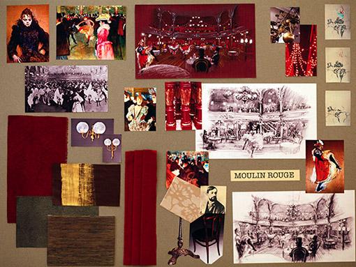 17 Mood Board Moulin Rouge