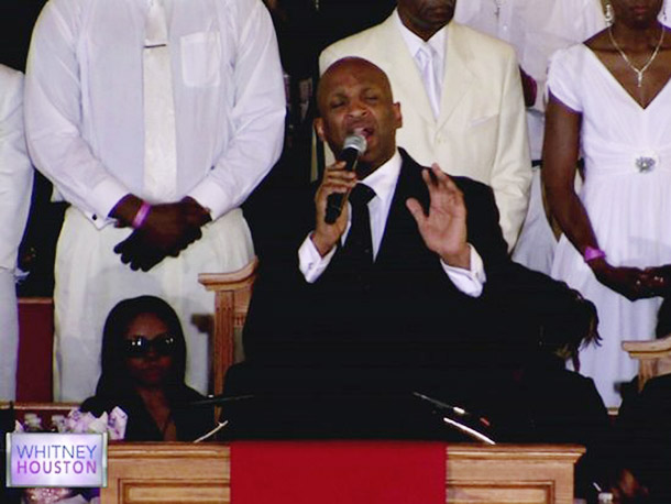 Donnie McClurkin performed one of Houston's favorite gospel songs, ''Stand''