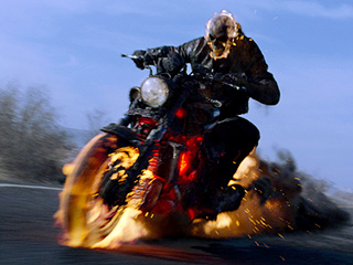 FIERY PIT Nicholas Cage squares off against the devil in Ghost Rider: Spirit of Vengeance