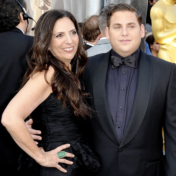 Sharon Lyn with her son, Jonah Hill