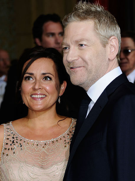 Lindsay Brunnock and Kenneth Branagh